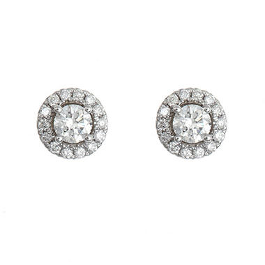 0.45 CT. T.W. Regal Diamond Earrings in 14K White Gold (I, SI2)
