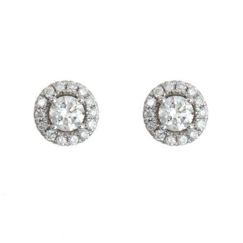 0.45 CT. T.W. Regal Diamond Earrings in 14K White Gold (I, SI2)