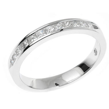 0.45 CT. T.W. Regal Princess-cut Diamond Ring in 14K White Gold (I, SI2)