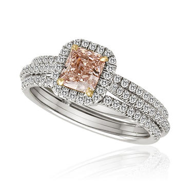 1.35 ct. t.w. Natural Pink and White Diamond Ring in Platinum (G-H, VS2-SI1)