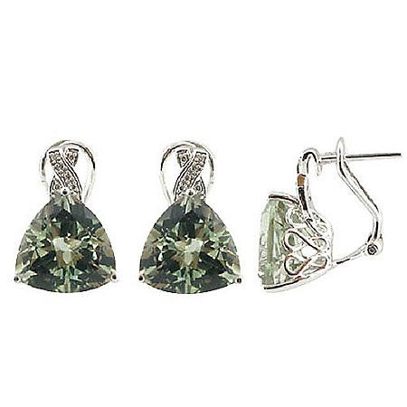 8.0 ct. t.w. Prasiolite & Diamond Accent Earrings