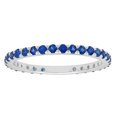 .56 ct. t.w. Blue Sapphire Band in 18k White Gold