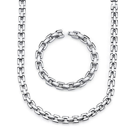 Stainless Steel Square Link Set