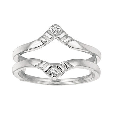 0.04 ct. t.w. Round Diamond Ring Guard in 14k White Gold (I, I1)