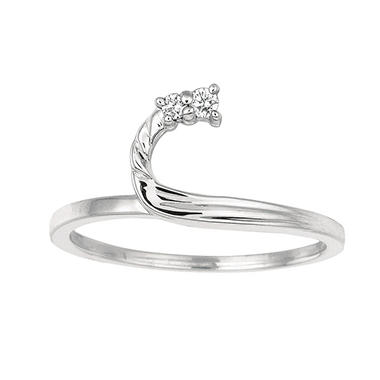 0.05 ct. t.w. Round Wrap Around Diamond Ring in 14k White Gold (I, I1)