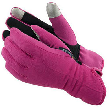 Manzella Softshell Women's Commuter Gloves with TouchTip™ - Pink