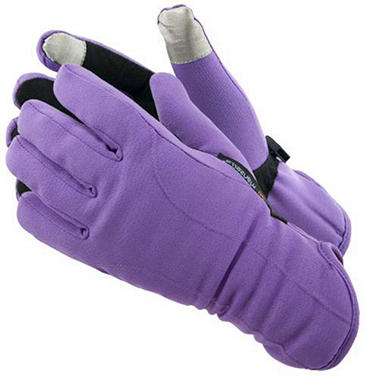 Manzella Softshell Women's Commuter Gloves with TouchTip™ - Purple
