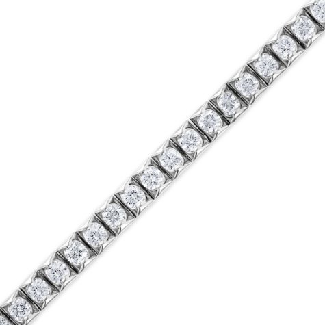 4.95 CT. T.W. Diamond Tennis Bracelet in 14K White Gold (H-I, I1)