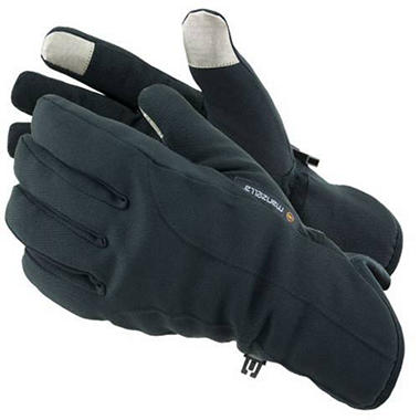 Manzella Softshell Men's Commuter Gloves with TouchTip™ - Black