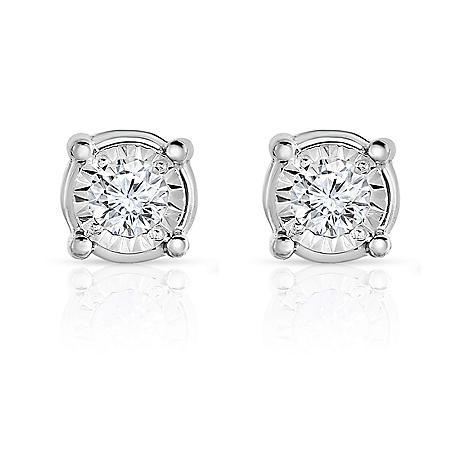 0.35 CT. T.W. Diamond Stud Eaarrings in 14K White Gold