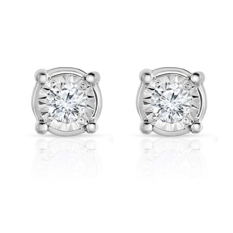 0.35 CT. T.W. Diamond Stud Eaarrings in 14K White Gold