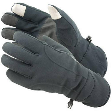 Manzella Softshell Men's Commuter Gloves with TouchTip™ - Graystone