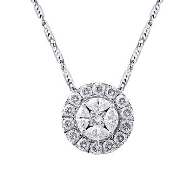 100 ct tw princess and marquise diamond pendant in 14k white tw princess and marquise diamond pendant in 14k white gold h i aloadofball Choice Image