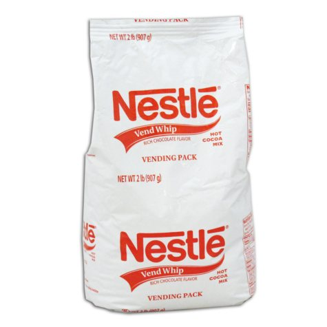 Nestle Hot Chocolate Mix (Whip Cocoa) - Vending size - 2lb Bags - 12 ct.