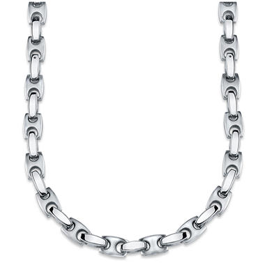 Stainless Steel H-Link Men's Necklace and Bracelet Set