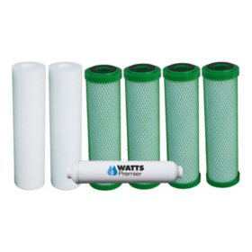 Watts Premier 5-Stage RO  Filter Green Block Annual Replacement - 7 pc.