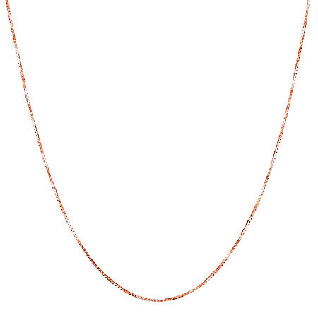 """22"""" Adjustable Box Chain in 14K Gold"""