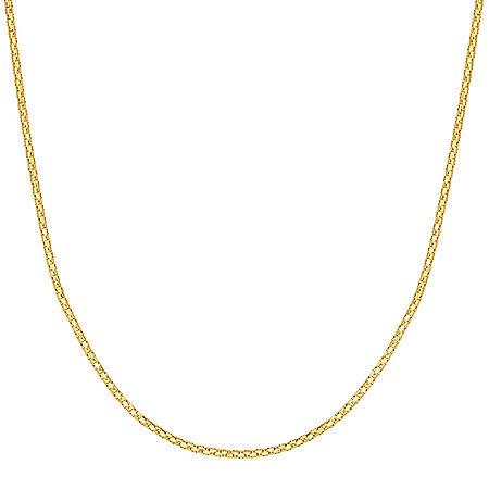 "22"" Adjustable Popcorn Chain In 14K Gold"