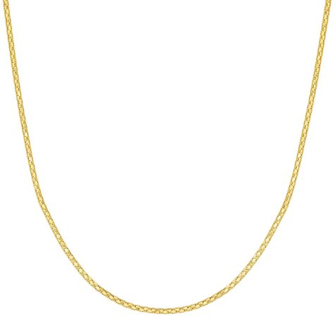 "22"" Adjustable Popcorn Chain In 14K Gold"