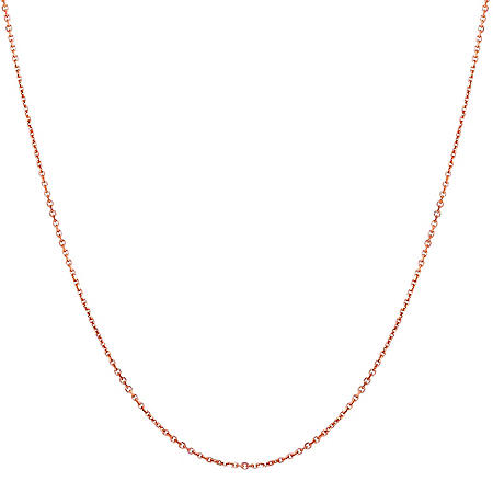 "22"" Adjustable Cable Chain in 14K Gold"