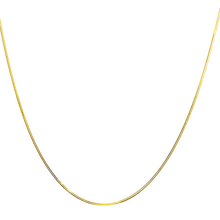 "22"" Adjustable Snake Chain In 14K Gold"