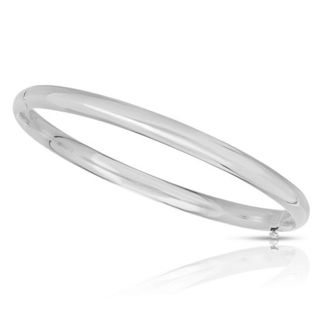 5mm Polished Bangle In 14K Gold