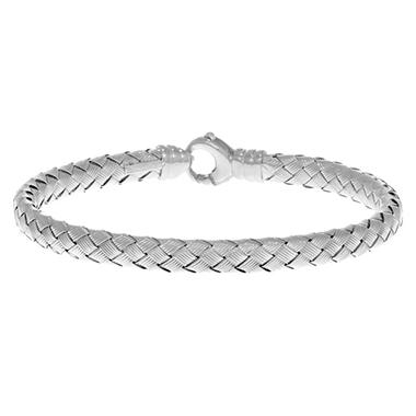 Weave Bangle in 14K White Gold