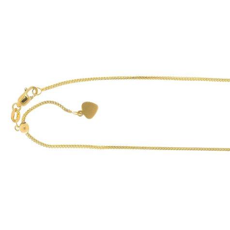 "22"" Adjustable Franco Chain In 14K Gold"