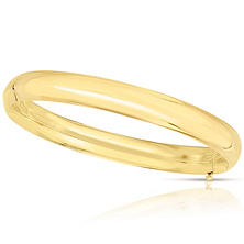 8mm Polished Bangle In 14K Yellow Gold