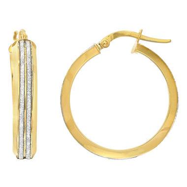 Italian Hoop Earrings In 14k Yellow Gold Sam S Club