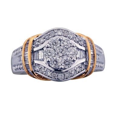 0.90 CT. T.W. Diamond Ring in 14K Two-Tone Gold (I, I1)