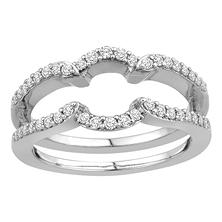 3/8 ct. t.w. 14K White Gold Insert Band with Brilliant Diamonds in Microprong Set (H-I, I1)