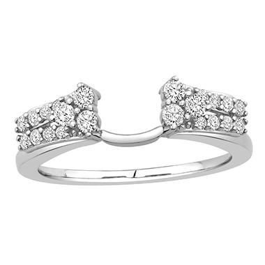 3/8 ct. t.w. 14K White Gold Brilliant Double Row Enhancer Wrap (H-I, I1)