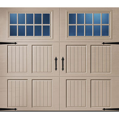 Amarr Classica 2000 Sandtone Carriage House Garage Door (Multiple Options)
