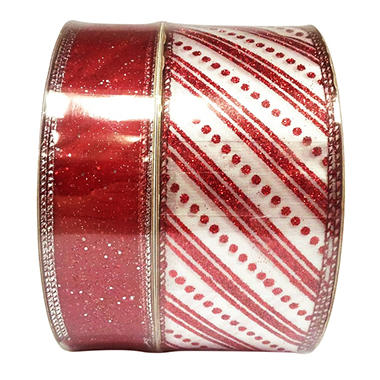 Holiday Ribbon 2 pk./50 yds. each - Various Colors