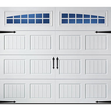 Amarr oak summit 3000 white panel garage door multiple for 16 x 21 garage door panels
