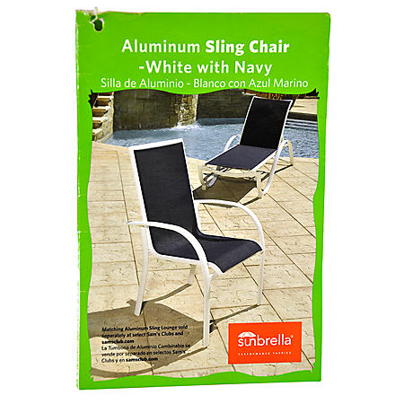 STACK CHAIR BLUE SLING CHAIR