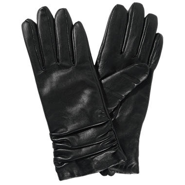 Women's Premium Lambskin Leather Gloves - Black