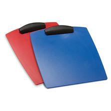 Storex Hard Poly Clipboard, Letter, Red and Blue, 12 pk.