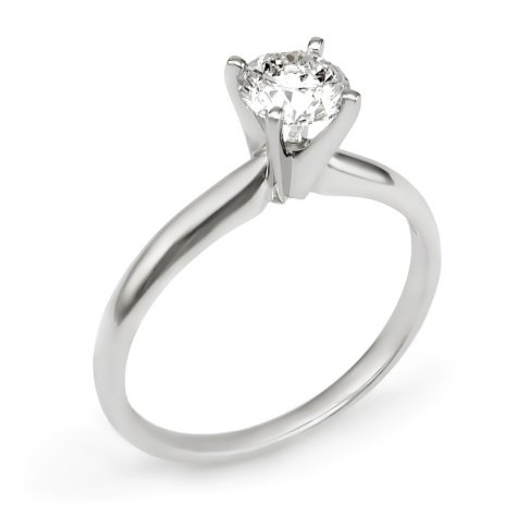 0.75 CT. Round Diamond Solitaire Engagement Ring in 14K Gold HI, I1