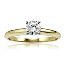 .50 ct. Round Diamond Solitaire Engagement Ring in 14K Gold HI, I1