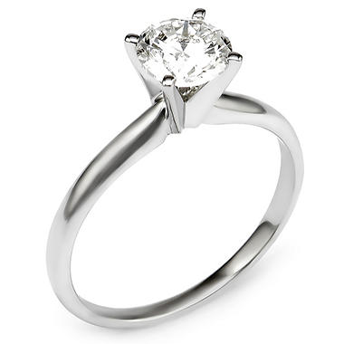 0.96 CT. T.W. Round Diamond Solitaire Engagement Ring in 14K Gold HI, I1