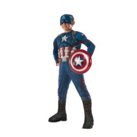 Civil War Captain America Muscle-Chest Halloween Costume