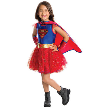 Supergirl Tutu Dress Halloween Costume Medium