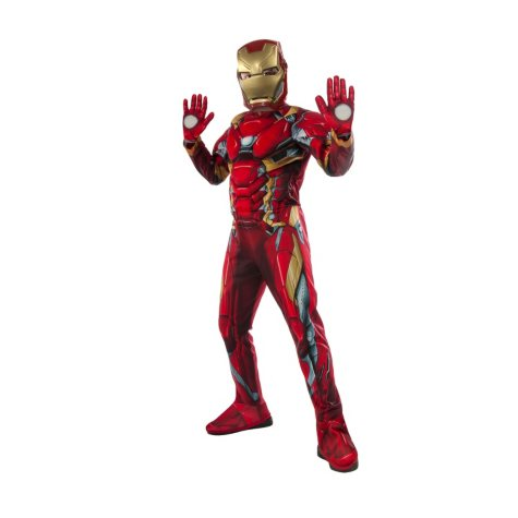 Civil War Iron Man Muscle-Chest Halloween Costume
