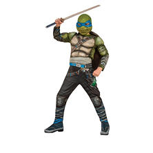 Teenage Mutant Ninja Turtle Leonardo Movie 2 Halloween Costume Medium