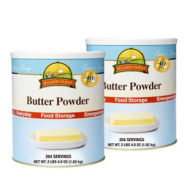 Augason Farms Butter Powder - #10 cans - 2 pk.
