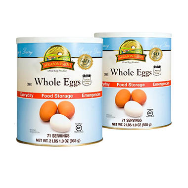 Augason Farms Dried Whole Eggs - #10 cans - 2 pk.
