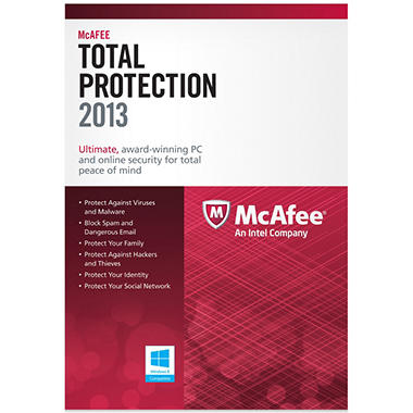 McAfee Total Protection 2013 3U PC Security Software