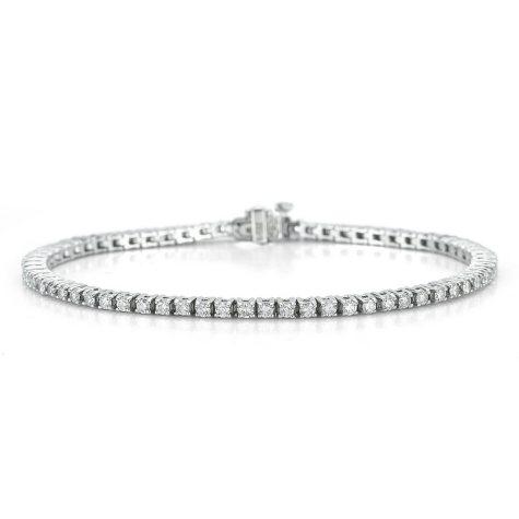 2.0 ct. t.w. Diamond Tennis Bracelet in 14K White Gold (I, I1)